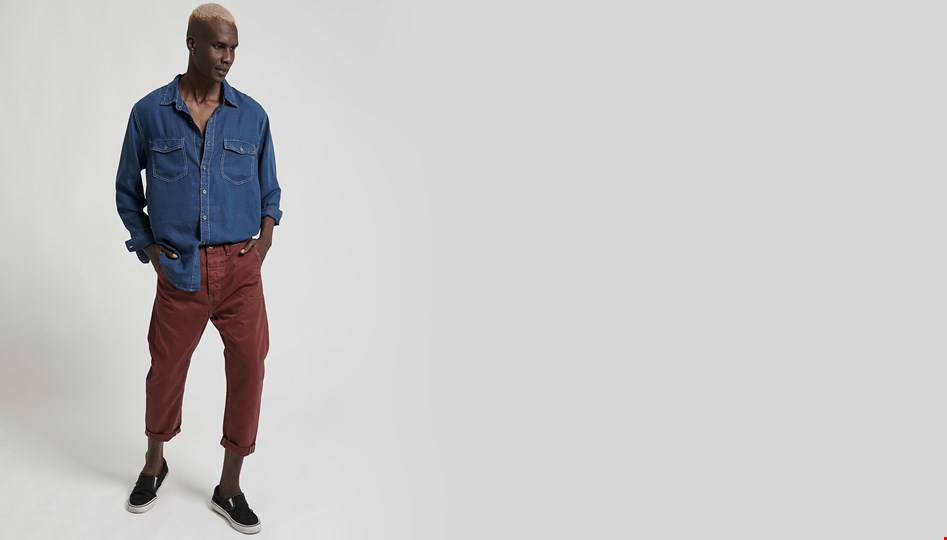 BORDEAUX MR RELAXED JEAN