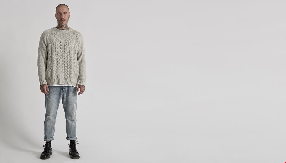 MR JAMES CABLE KNIT SWEATER
