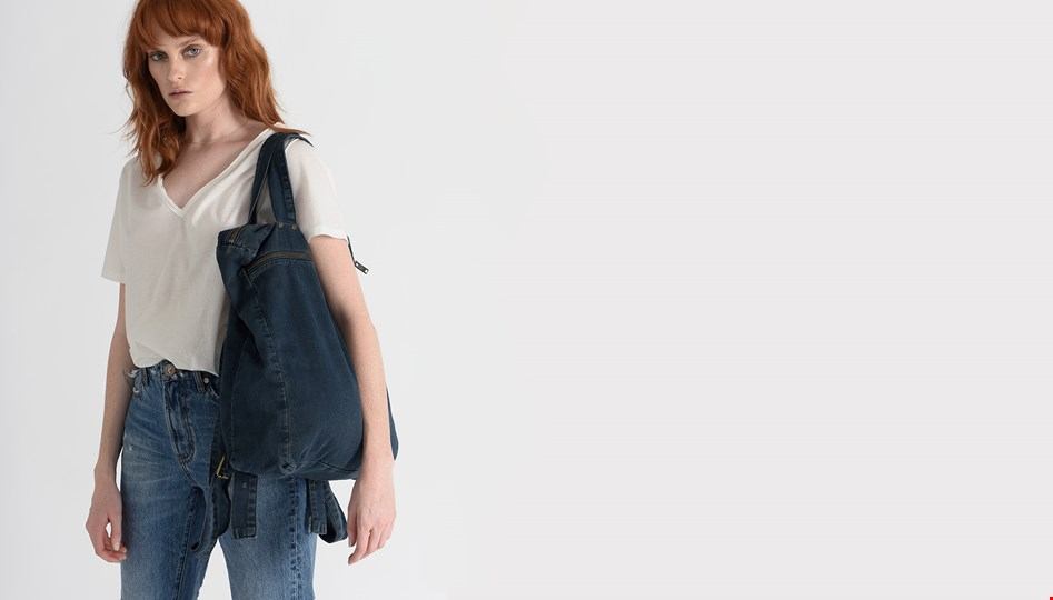 MIDNIGHT DENIM RUCKSACK BAG