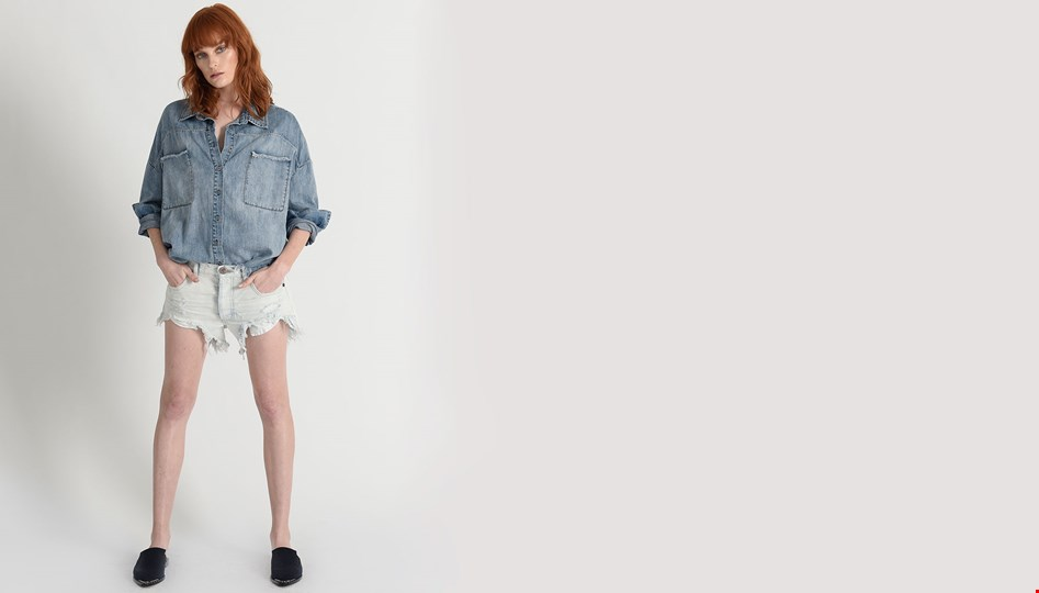 XANTHE ROLLERS DENIM SHORT