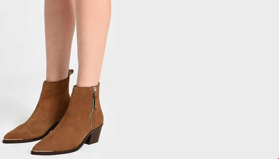 SUEDE MONICA BOOTS