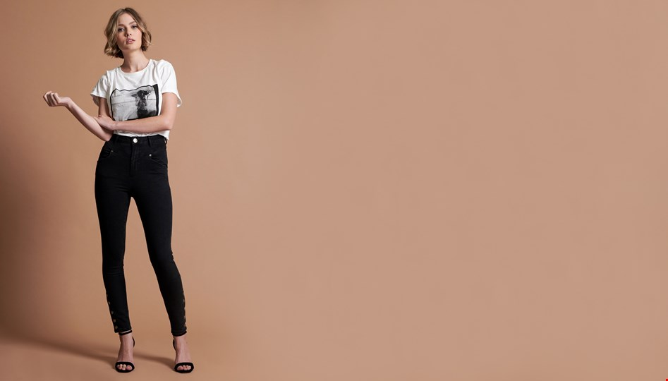 BLACK SWAN PREACHERS HIGH WAIST SKINNY JEAN