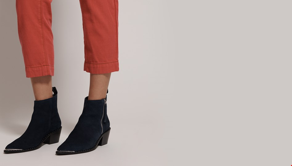 FADED NAVY ZIP SIDE CHELSEA BOOT