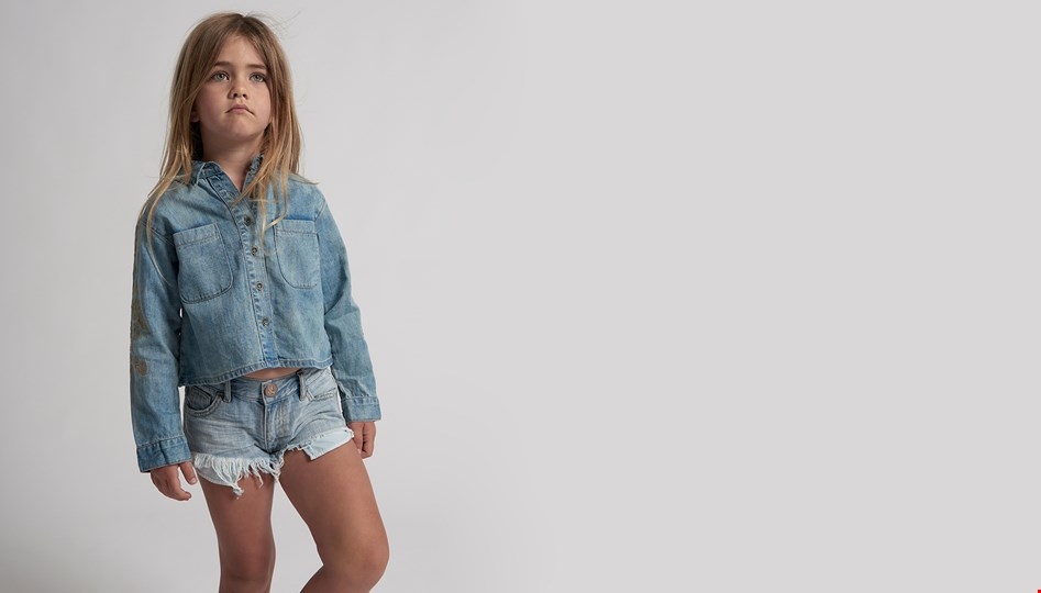 KIDS HUSTLER BONITAS DENIM SHORT
