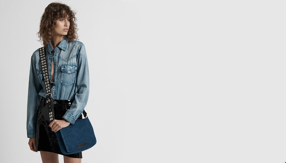 DENIM CLAUDIA SLING BAG