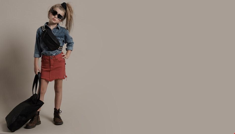 KIDS VIONA RED 2020 HIGH WAIST DENIM SKIRT