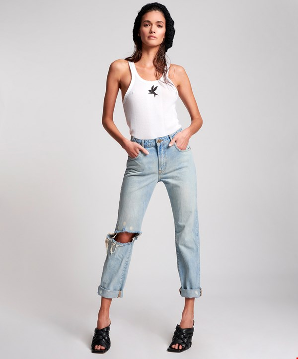 KANSAS AWESOME BAGGIES HIGH WAIST STRAIGHT LEG JEAN